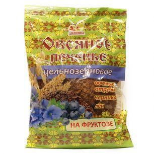 Печенье Овсяное цельнозерновое со льном, на фруктозе, 300 гр