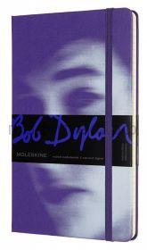 Книжка зап.Moleskine Large BOB DYLON линейка фиолетовая LEBDQP060B