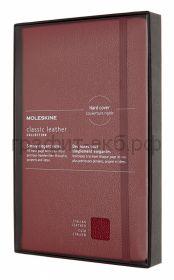 Книжка зап.Moleskine Large натур.кожа Leather Soft линейка красная LCLH31SF1BOX