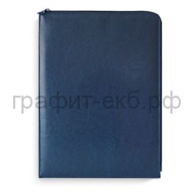 Папка Феникс+ САРИФ плоская на молнии 340х240мм синий 50230