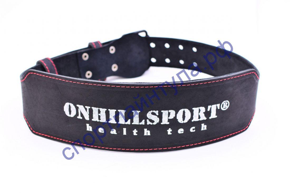 Пояс атлетический 60/100 мм, пряжка, однослойный Onhillsport