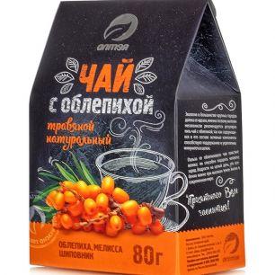 Травяной чай с облепихой, 80 гр