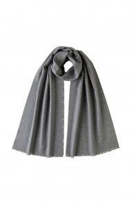 """стильный однотонный шарф 100% шерсть мериноса, расцветка """"Серый""""  GREY BRUSHED MERINO, средняя плотность 4"""