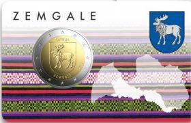 Герб Земгале   2 евро Латвия  2018 BU блистер