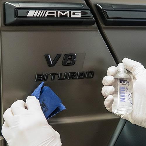 Нанесение керамического покрытия для матовых лаков и плёнок кузова авто Gyeon Q2 Matte