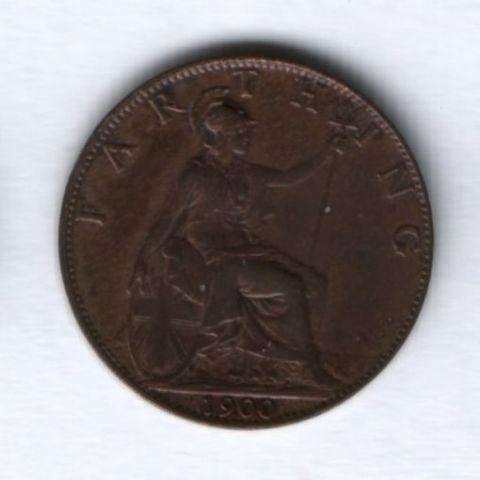 1 фартинг 1900 года Великобритания XF