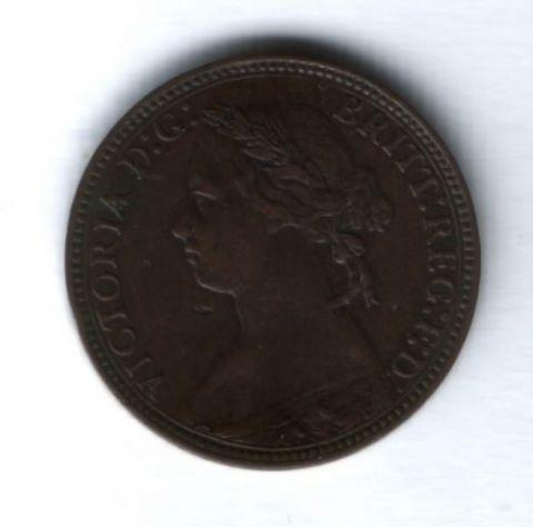 1 фартинг 1875 года H Великобритания