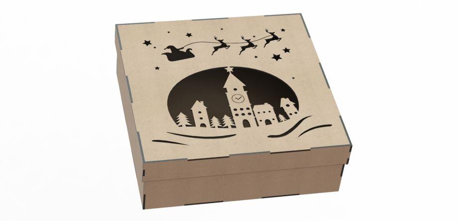 Подарочная коробка рождество