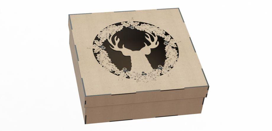 Подарочная коробка с оленем