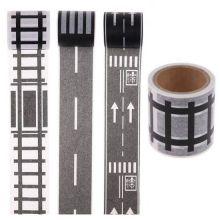 Игровой скотч с дорожной разметкой Умная железная дорога, 72х20 м
