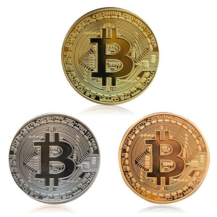 Монета сувенир Биткойн (Bitcoin)