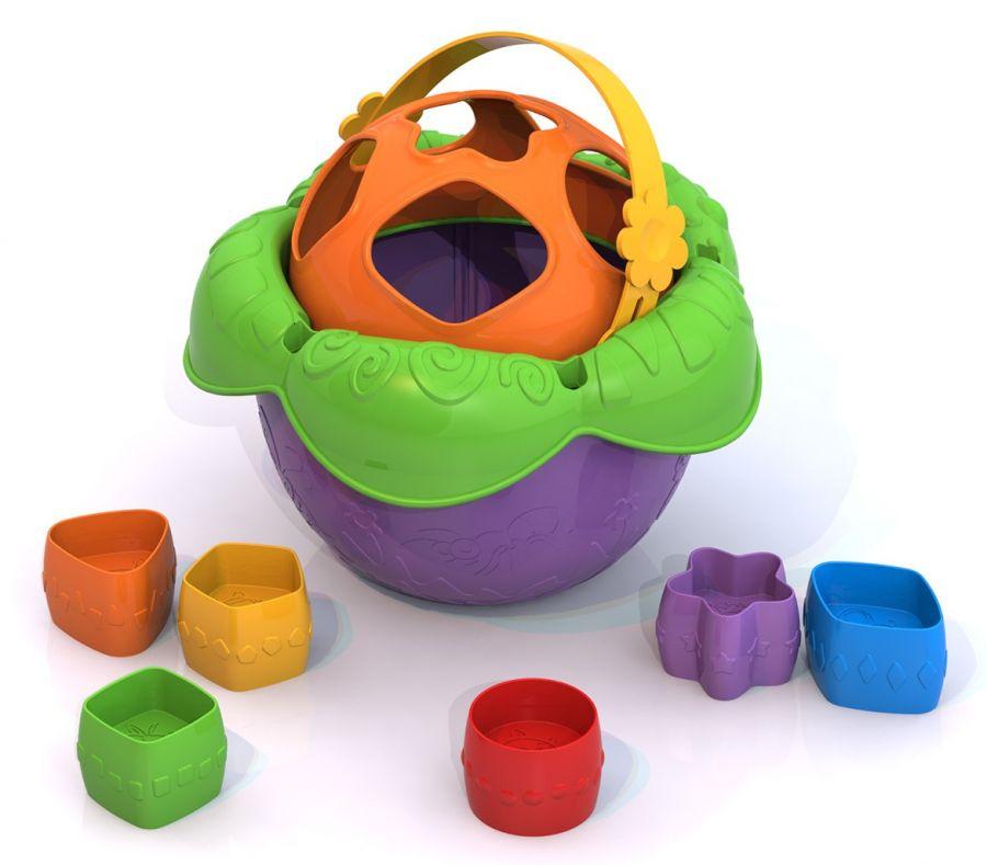 Дидактическая игрушка Ведро Цветочек сортер