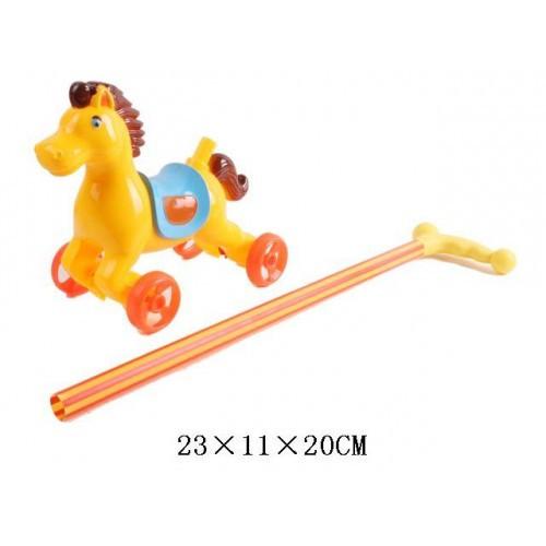 Лошадка-каталка с ручкой