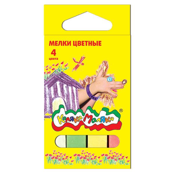Мелки цветные Каляка-Маляка 4шт., европодвес 3+