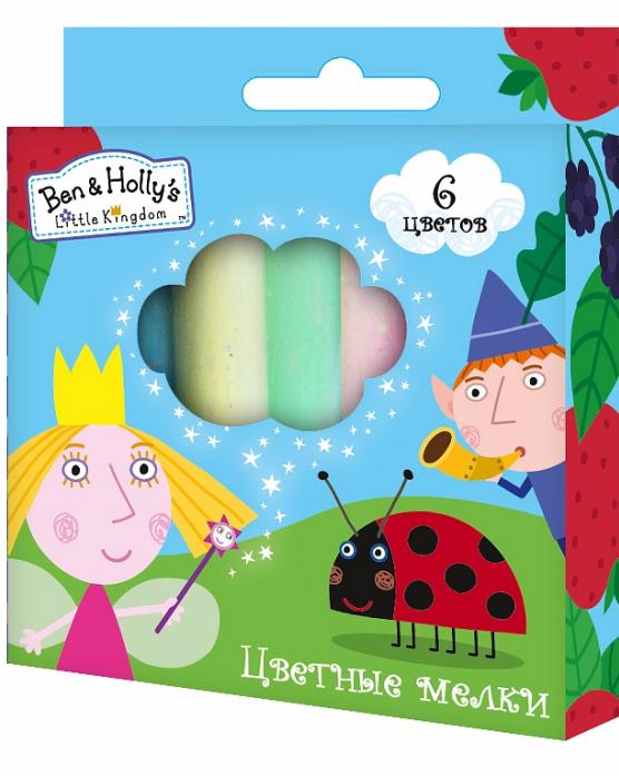 Цветные мелки 6 BEN & Holly