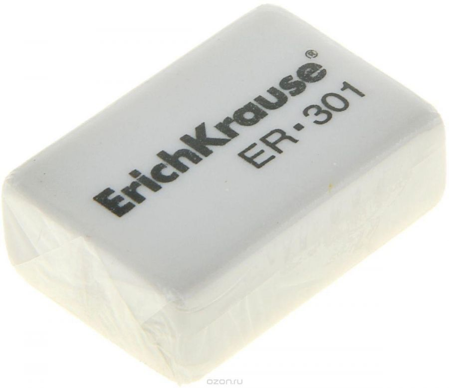 Ластик ERICH KRAUSE  ER-301  31*21*11 синтет белый