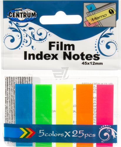 Пост-индекс пластик 45*12 5 цвета*25л  неон