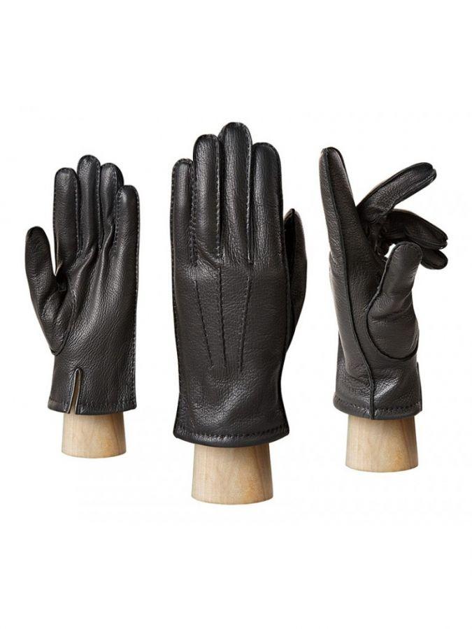 Теплые кожаные перчатки ELEGANZZA
