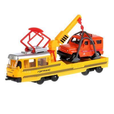 Технопарк Машины металл Трамвай рем.16,5см с УАЗ HUNTER 258735