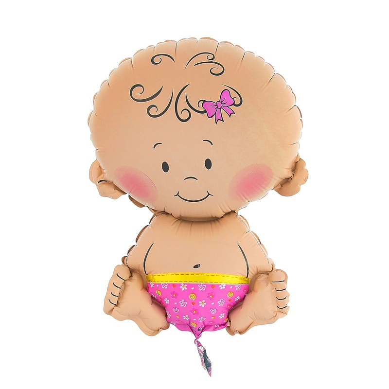 Шар Малышка девочка 66 см с гелием