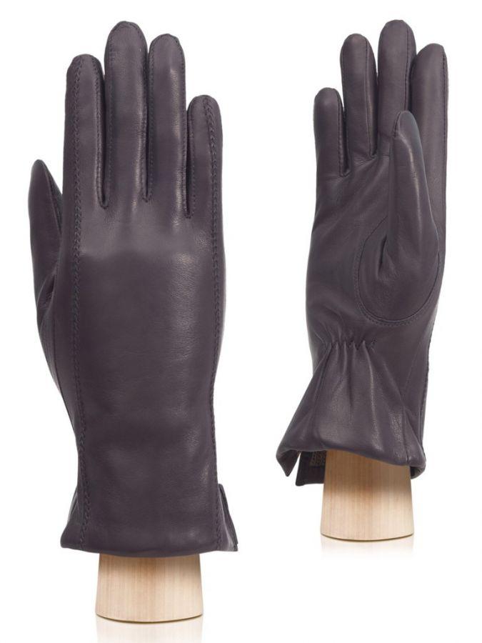 Осенние кожаные перчатки ELEGANZZA