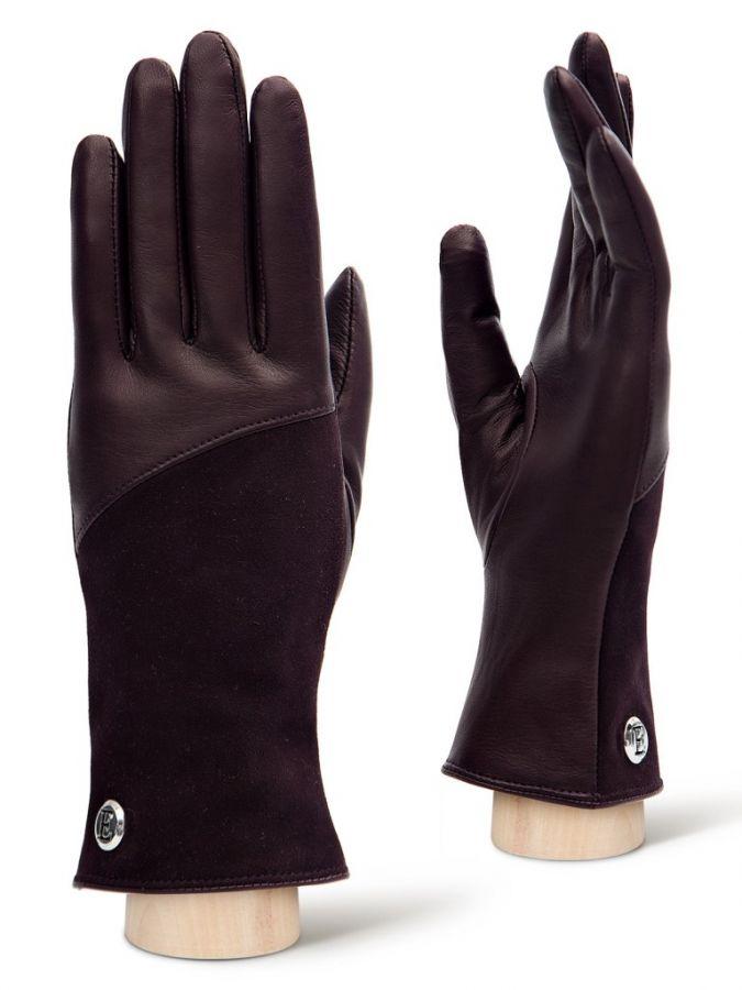 Перчатки кожаные женские ELEGANZZA