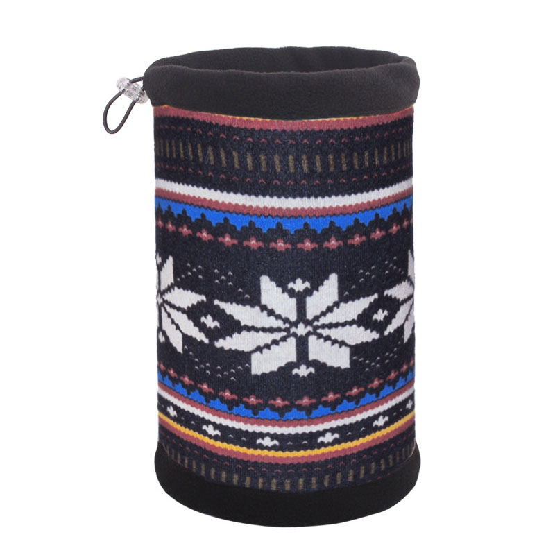 Флисовый шарф труба с орнаментом