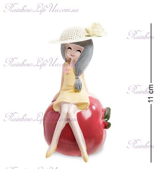 """Фигурка девочка на яблоке """"MF"""""""