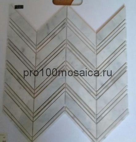 KA63 Мозаика серия Камень размер чипа 105*23 и 105*5, мм: 300*275*6 (Happy Mosaic)