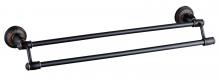 Держатель для полотенец двойной 60 см Savol S-606648H.черный