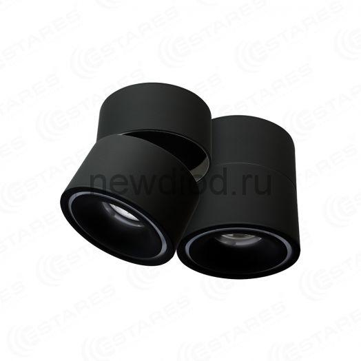 Светодиодный поворотный светильник DRUM 12W R-100 WW BLACK 220 IP44 Maysun