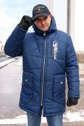 удлиненная мужская куртка с капюшоном