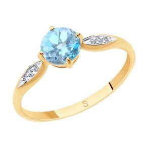 Кольцо из золота с топазом 715743 SOKOLOV