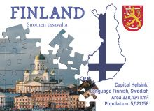 Почтовая открытка Step to Finland