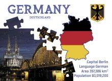 Postcard Step to Germany