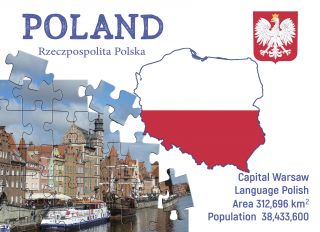 Postcard Step to Poland