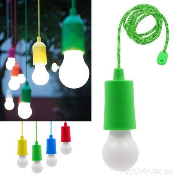 Светодиодная лампочка на шнурке Led Stretch Switch Light, Цвет: Зелёный