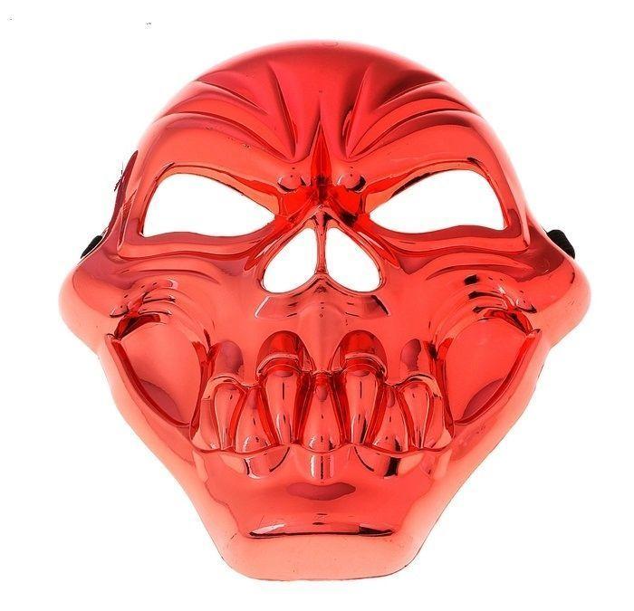 Красная маска черепа с зубами