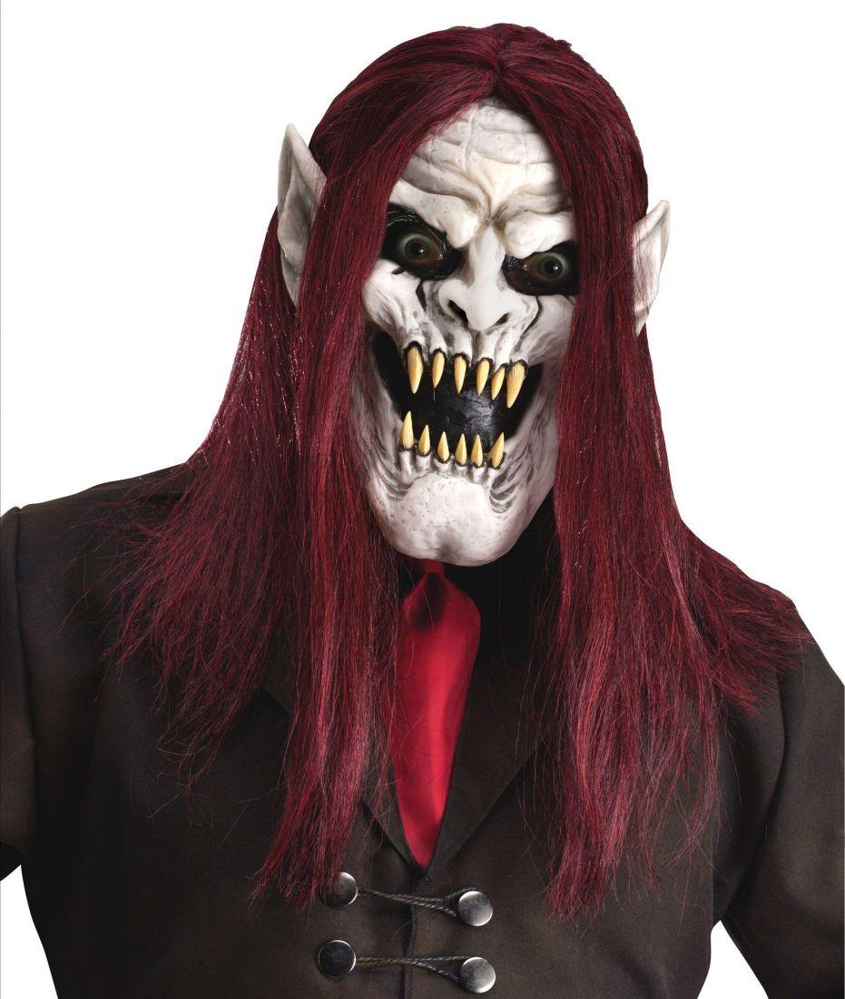 Маска демонического вампира белая