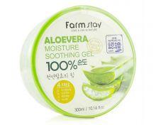 """""""FarmStay"""" Aloevera Moisture Soothing Gel Myungin Cosmetic Гель многофункциональный с алоэ вера 300"""