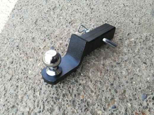 Переходник фаркопа в квадрат 50x50 стандартный (шар хром 50мм.)