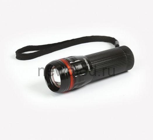 Фонарь SMARTBUY светодиод.алюминиевый 3W Smartbuy, черный (SBF-305-3ААА)
