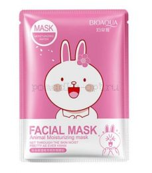 Тканевая маска Bioaqua Facial Mask Animal заяц