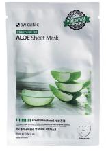 """3W Clinic"" Essential Up Aloe Sheet Mask 25ml Увлажняющая тканевая маска  с экстрак  алоэ"