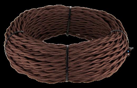 Ретро кабель витой 3х1,5 (коричневый)