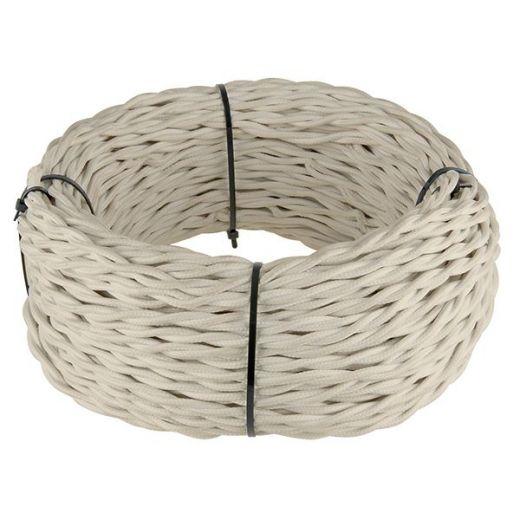 Ретро кабель витой 2х2,5 (песочный)