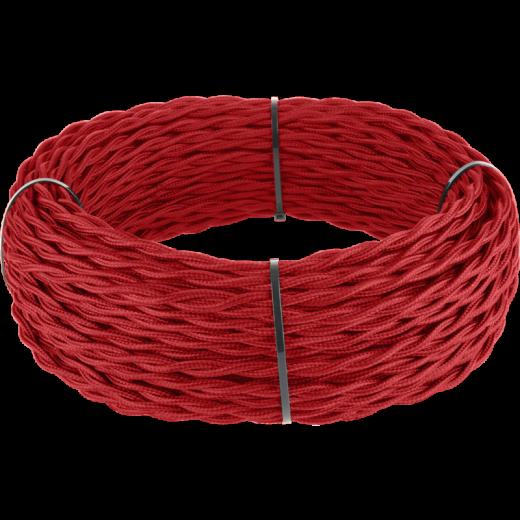 Ретро кабель витой 2х1,5 (красный)