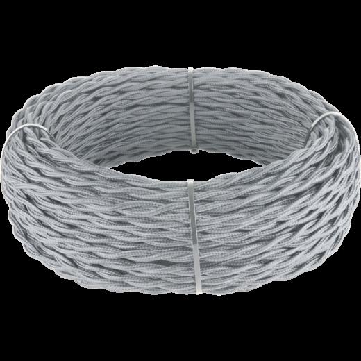 Ретро кабель витой 2х1,5 (серый)