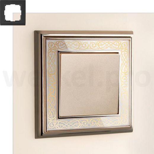 Рамка на 1 пост WL77-Frame-01 золото/белый