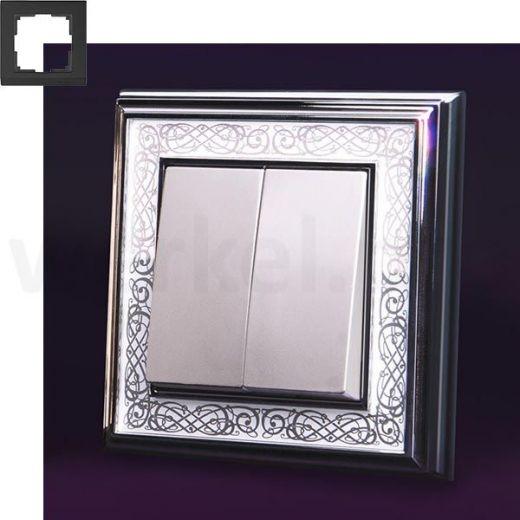 Рамка на 1 пост WL77-Frame-01 хром/белый